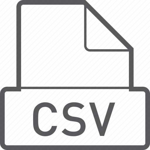 basic, csv, file icon