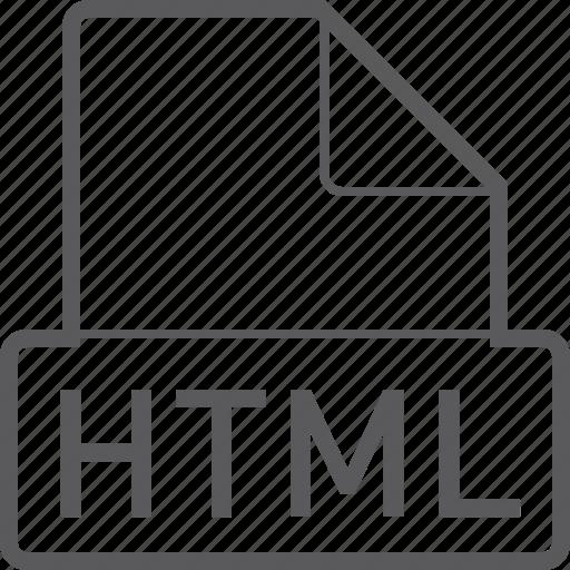 basic, file, html icon
