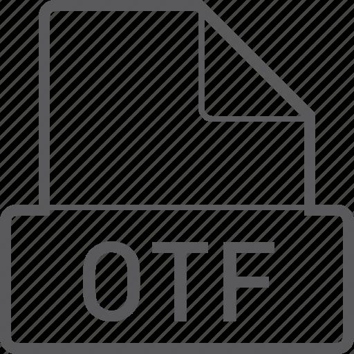 basic, file, otf icon