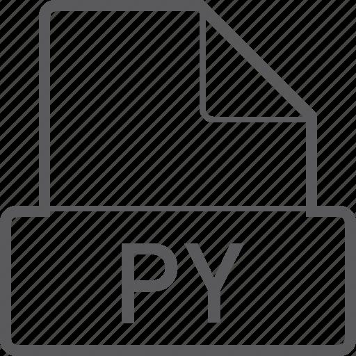 basic, file, py icon
