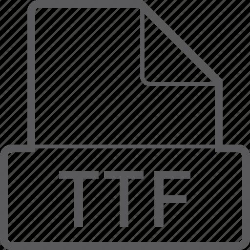 basic, file, ttf icon