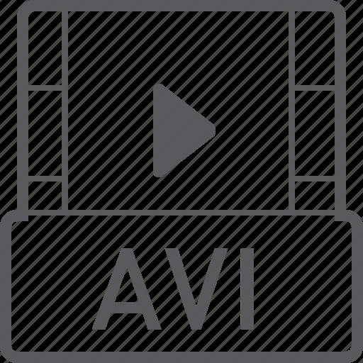 avi, basic, file, video icon