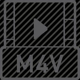 basic, file, m4v, video icon