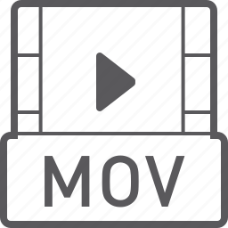 basic, file, mov, video icon