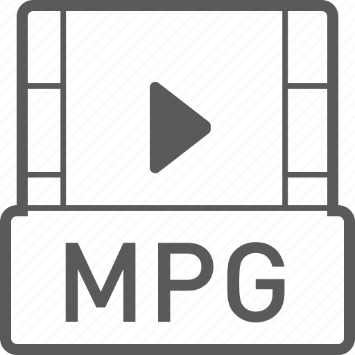 basic, file, mpg, video icon