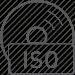 basic, disc, file, iso icon