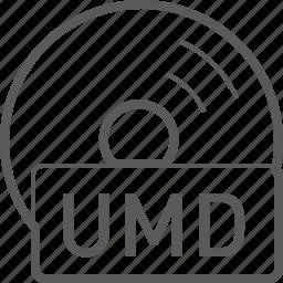 basic, disc, file, umd icon