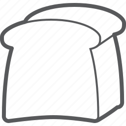 bread, food, loaf, toast icon