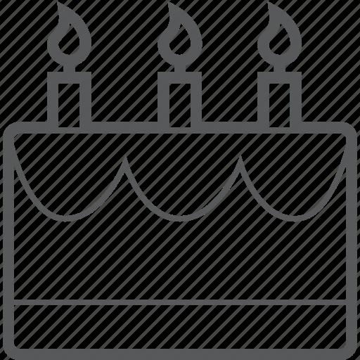 anniversary, birthday, cake, candle, celebration, celebrations icon