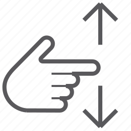 finger, gestureworks, one, swipe, vertical icon
