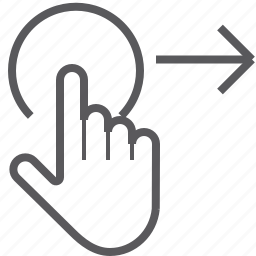 gestureworks, right, swipe, tap icon