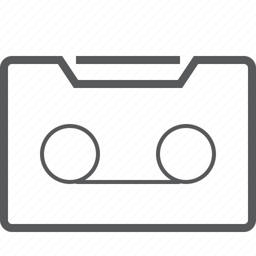 cassette, media, multimedia, music, retro, sound, tape icon