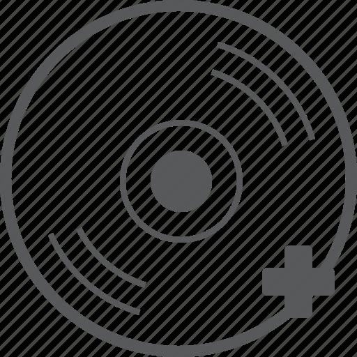 add, audio, cd, create, disc, media, plus icon