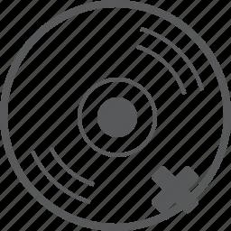 cd, delete, disc, media, music, remove, trash icon
