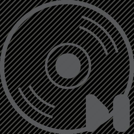 arrow, audio, cd, disc, media, next, skip icon
