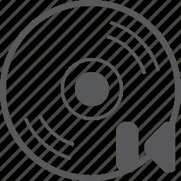 arrow, cd, disc, media, music, previous, skip icon