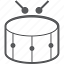drum, drum stick, equipment, instrument, music, percussion, stick icon