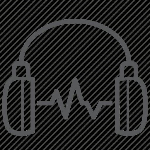 device, headphone, headset, music, phone, signal, sound icon