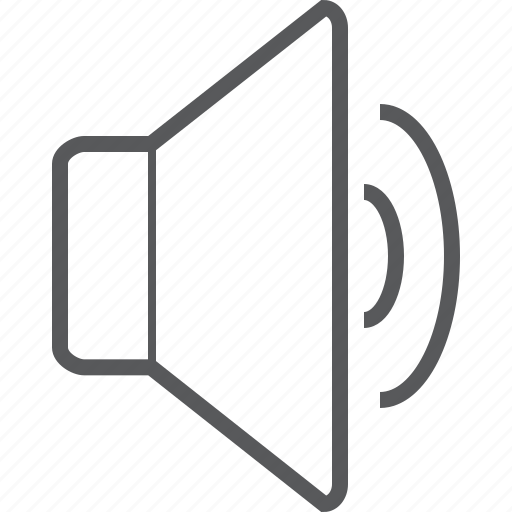 half, loud, loudspeaker, media, music, speaker, volume icon
