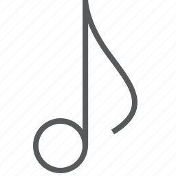 eighth, media, music, musical, note icon