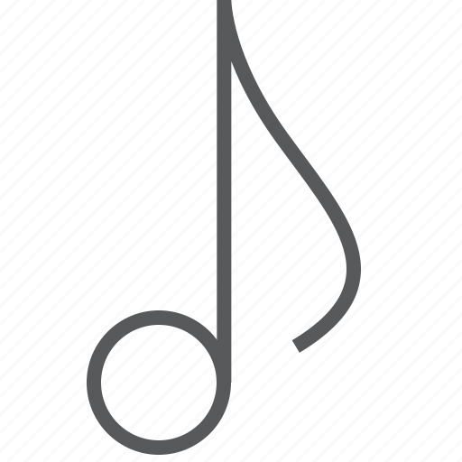 Eighth, musical, note, media, music icon - Download on Iconfinder