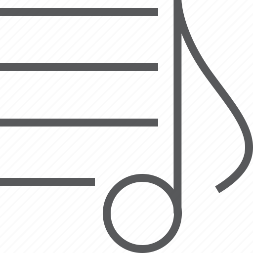 eighth, media, menu, music, musical, note, sheet icon