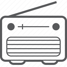 media, music, radio, retro, signal, speaker icon