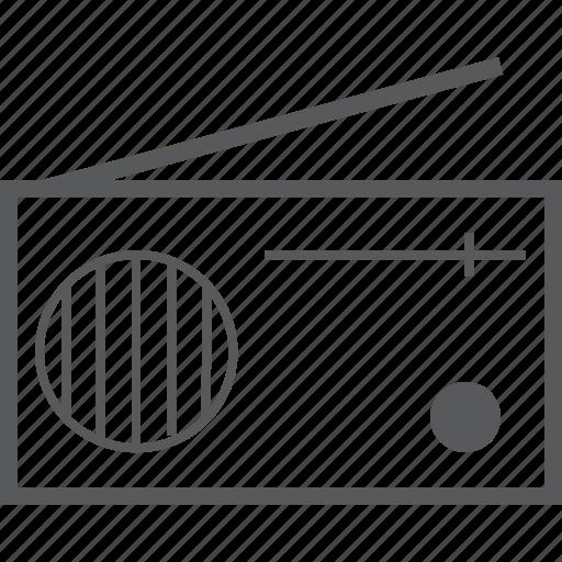 antenna, media, music, radio, retro, signal icon