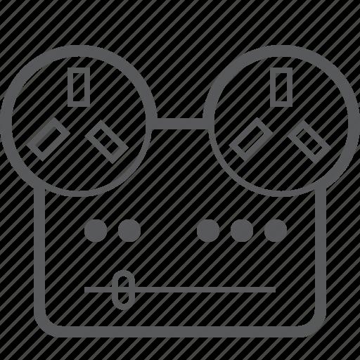 film, media, movie, multimedia, player, reel, retro icon