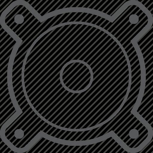 Speaker, device, loud, loudspeaker, multimedia, music, sound icon - Download on Iconfinder