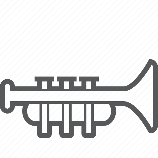 audio, instrument, media, multimedia, music, musical, trumpet icon