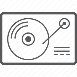 analog, audio, media, multimedia, music, player, vinyl icon