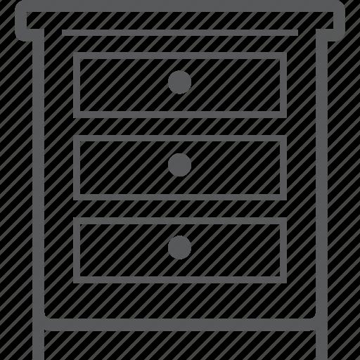 cabinet, drawer, furniture, interior, storage icon