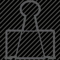 clamp clip, clip, paper, paper clamp, paper clip icon