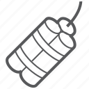 bomb, dynamite, explosion, explosive, tnt icon
