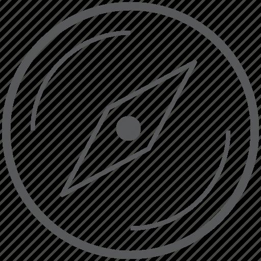 compass, direction, location, map, navigation, safari, where icon