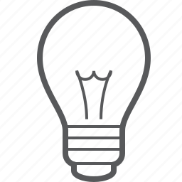 bulb, electric, electricity, light, lightbulb, tube icon