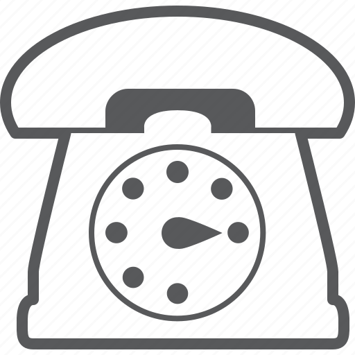 communication, old, phone, retro, retro phone, talk, telephone icon