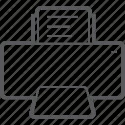 copyer, paper, photocopy, print, print machine, printer, printing icon