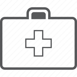 briefcase, emergency, health, healthcare, medical, medicine, suitcase icon