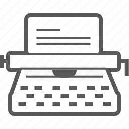 document, text, type, typewriter, typing, write, writing icon