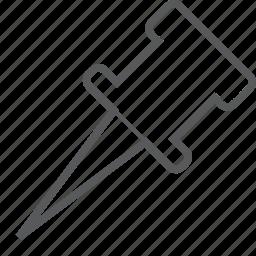 pin, tack, thumbtack icon