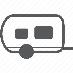 caravan, convoy, retro, transport, vehicle icon