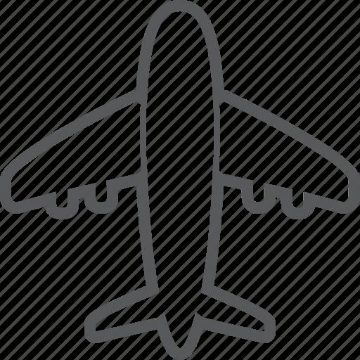 aeroplane, air, airplane, flight, flying, plane, vehicle icon