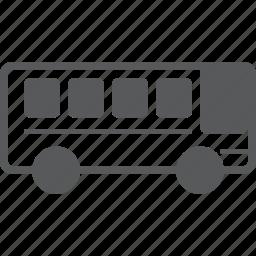 autobus, bus, coach, school, transportation, vehicle icon