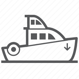 boat, cruise, sea, ship, shipping, vehicle icon
