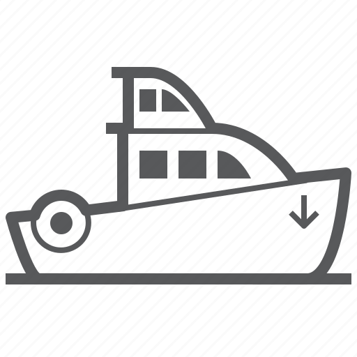 Cruise, boat, sea, ship, shipping, vehicle icon - Download on Iconfinder