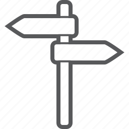 direction, map, navigation, road, road sign, sign icon