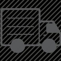 delivery, logistics, shipping, transport, transportation, truck, van icon