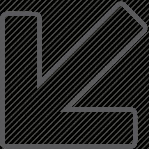 Arrow, diagonal, down, left icon - Download on Iconfinder